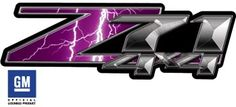 I got these to replace the stock z-71 stickers on my truck. so now not only do i have a purple bow tie, but I've got awesome purple lightning z-71 stickers.