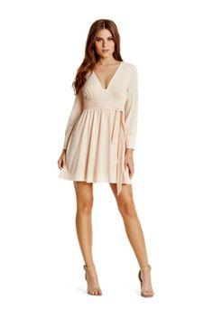 Saria Plunge-Neck Dress | GUESS.com