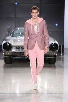 18b1b1768b9 Nick Graham Men s Spring 2019  ItalianFashion Pink Suit Men