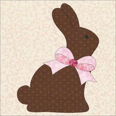 Free Pattern, Looking for your next project? You're going to love Easter 2015 Chocolate Bunnies Kissing  by designer seamstobesew. - via @Craftsy