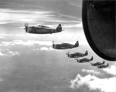 62d Fighter Squadron P-47 Thunderbolts - 1944.