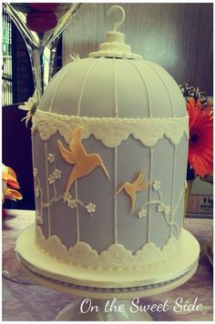 Hummingbird Birdcage Cake, it's cute but who would actually pay for this?
