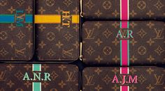 Louis Vuitton's iconic personalised monogramming arrives in the Middle East Painted Bags, Hand Painted, Designer Bags, Designer Handbags, Nail Whitening, Monograms, Middle East, Louis Vuitton Monogram, Preppy