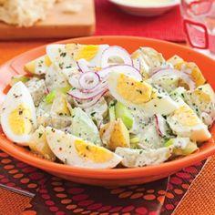 Salade de pommes de terre aux oeufs - Soupers de semaine - Recettes 5-15 - Recettes express 5/15 - Québécoise traditionnelle - Pratico Pratiques