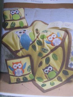 See Sally Sew-Patterns For Less - Owl Pillow