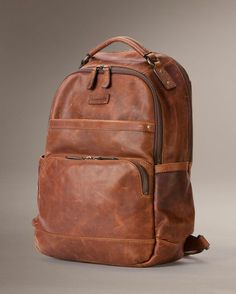 Marc by Marc Jacobs Full-Grain Leather Backpack | bags | Pinterest ...