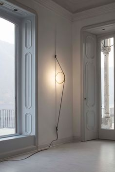 Buy online Wirering By flos, led indirect light wall lamp design Formafantasma Arc Floor Lamps, Modern Floor Lamps, Modern Wall, String Lights, Wall Lights, Ceiling Lights, Interior Lighting, Home Lighting, Mid Century Modern Lighting