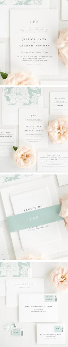 The Jessica wedding invitation collection is perfect for any pretty and proper wedding.