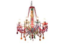 Colorful Chandeliers: Colored Crystal Chandelier with Shades,Lighting
