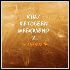 Koolhydraatarm weekmenu 2-slank4u2