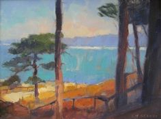 "View from the Cave Store, La Jolla by Catherine Grawin Oil ~ 12"" x 16"""