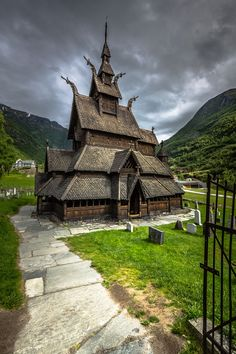 Photo Welcome to Borgund Stave Church, Norway by Europe Trotter on Travel Around The World, Around The Worlds, Beautiful Norway, Beautiful Sunset, Vikings, Cathedral Architecture, Europe On A Budget, Photo To Art, Visit Norway