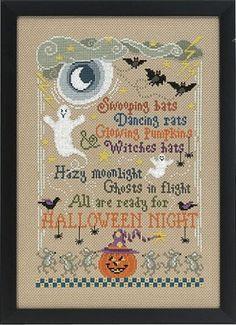 Halloween Night Counted Cross Stitch Pattern