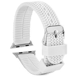 Apple Watch Band For 42mm Waterproof Silicone Replacement Apple Compatible Watch Strap White >>> Details can be found by clicking on the image.