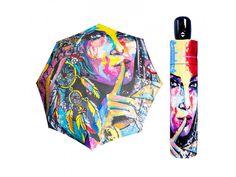 Doppler Magic Mini Art Fantasia. Dámský plně automatický deštník s atraktivním barevným potiskem obličeje ženy ve stylu moderního umění z kolekce Doppler MODERN.ART. Kvalitní jemný potah pongée (ponžé), konstrukce odolná větru. Bright Colors, Colours, Ladies Umbrella, Famous Artwork, Modern Art, Australia, Women's Umbrellas, Retro, Magic