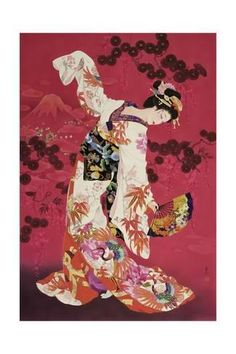 (Japan) Dancing geisha by Haruyo Morita ). Japanese Painting, Chinese Painting, Chinese Art, Japanese Prints, Japanese Design, Japanese Girl, Asian Cards, Geisha Art, Geisha Drawing