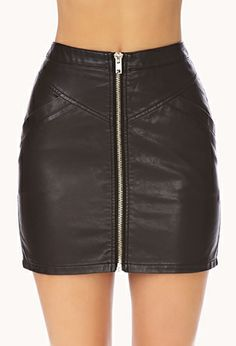 Daring Zippered Skirt | FOREVER 21 - 2000110153