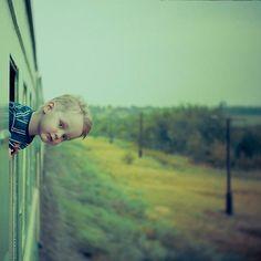 Boy on a train. Photographer: Vladimir Zotov