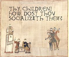 Humorous take on the Bayeaux Tapestry