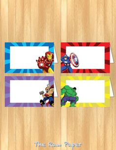 INSTANT DOWNLOAD The Avengers Food Tent by TheRawPaper on Etsy