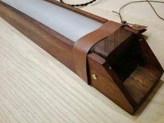 Mahogany wood rectangular Led ceiling lamp