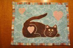 kitty cat mug rug by Rebecca