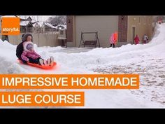 What better way to take advantage of an elevated back yard that's covered in snow than building a luge course? This family, based in Utah, did just that, and the kids looked absolutely delighted. Credit: Facebook/Christine Coleman Williams via Storyful