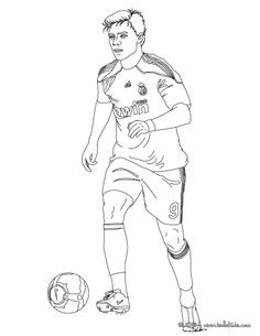 soccer colouring pages cerca con google - Football Colouring Sheet