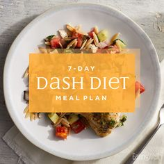 Knowing Diet Food Chart This DASH Diet meal plan to help lower your blood pressure, lose weight and prevent diabetes. Dash Diet Meal Plan, Dash Diet Recipes, Diet Meal Plans, Dash Eating Plan, Keto Recipes, Healthy Diet Plans, Keto Meal, Fruit Recipes, Paleo Diet