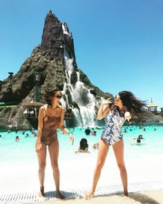 Universal's Volcano Bay is an island retreat like none before. Grab your friends and don't miss the perfect photo-op in the sparkling waters under the mighty Krakatau. (IG Cred: @ gabypaezc)