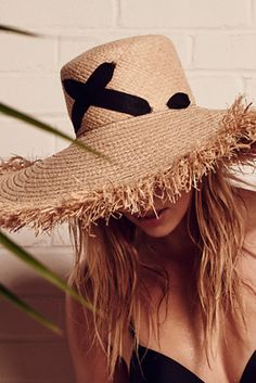 Lola Hats For FP Womens CROSS MY HEART STRAW HAT Top Hats For Women 64d75f1a4247