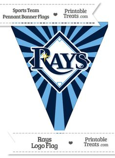 Tampa Bay Rays Pennant Banner Flag from PrintableTreats.com