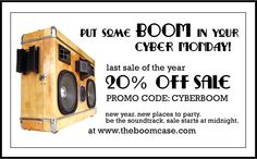 Cyber BoomDay - #BoomCase Cyber Monday 20% Sale