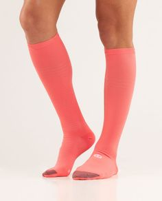compressions socks from lululemon          For a cool breeze and tight squeeze, pull these socks up to your knees.
