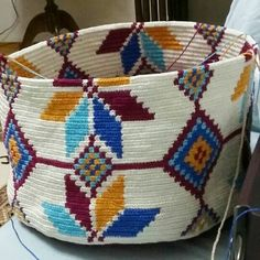 Discover thousands of images about Takipçi, Takip Edilen, 739 Gönderi - Instagra. Tapestry Bag, Tapestry Crochet, Crochet Dog Sweater, Knit Crochet, Crotchet Bags, Crochet Motif Patterns, Irish Crochet, Knitting Stitches, Yarn Crafts
