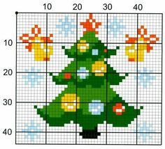 creazioni nausica all'uncinetto e non solo: Schemi punto croce Natale