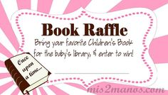 Book Raffle Tickets Baby Shower Set of 10 by M2MPartyDesigns