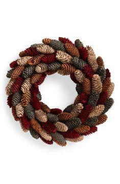Pine Cone Art, Pine Cone Crafts, Wreath Crafts, Diy Wreath, Pine Cone Wreath, Wreath Making, Wreath Ideas, Diy Crafts, Pine Cone Christmas Decorations