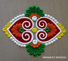 Rangoli Designs Simple Diwali, Simple Rangoli Border Designs, Indian Rangoli Designs, Rangoli Designs Latest, Rangoli Designs Flower, Free Hand Rangoli Design, Small Rangoli Design, Rangoli Ideas, Rangoli Designs With Dots