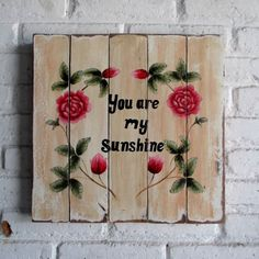 You are my sunshine my only sunshine.. you make me happy.. Spray Stencil on Durian Wood  40 x 40 x 2 cm  #woodsignshop #woodsignage #woodsign #wooddecor #wood #woodpainting #woodpanel #woodstencil #wooddecor #jualwoodsign #hiasandinding #hiasandindingbagus #hiasandindingvintage #hiasandindingkayu #hiasandindingcafe #hiasandindingmodern #hiasandindingkaligrafi #hiasandindingminimalis #hiasandindingrumah #hiasandindingkepalarusa #vintagelovers #vintagefurniture #vintagelook