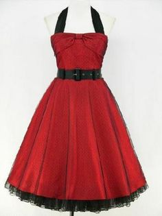 Vintage Dresses From The 40s & 50s! ... add a few tats and some great black pumps and you've got a great Rock-a-billy look happening.