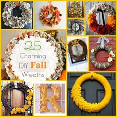 25 Charming DIY Fall Wreaths