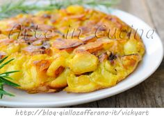 Tortilla di patate e cipolle in padella veloce vickyart arte in cucina