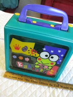 Keroppi Vintage Snap Closure Box With Handle Just About Square