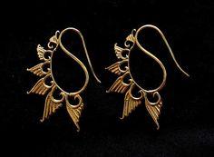 Brass Earrings Boho Earrings Tribal Earrings by jewellerypalacee