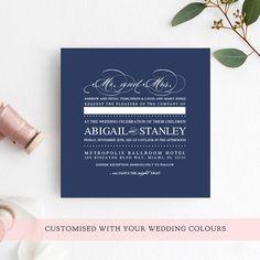 rustic kraft wedding invitation set with a modern handwriting font