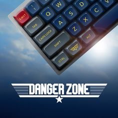 Danger Zone is a unique aviation-themed key set inspired by the film Top Gun; the US Navy Fighter Weapons School, known as TOPGUN; and military fighter aircraft.
