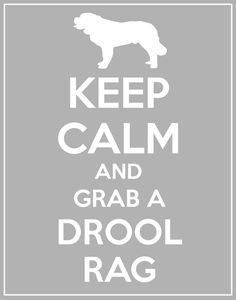 Keep Calm and Grab a Drool Rag