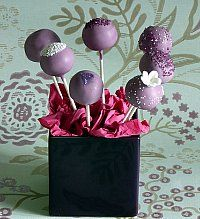 grape cakepops using grape soda...also, what if you froze grapes and dipped them and decorated just for something different? Toothpics instead of sticks...