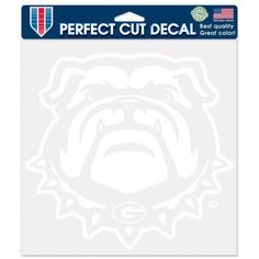 WinCraft University of Georgia Perfect Cut Decal (White, Size ) - NCAA Licensed Product, NCAA Novelty at Academy Sports